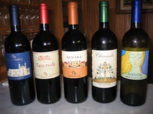 5 bottles of wine