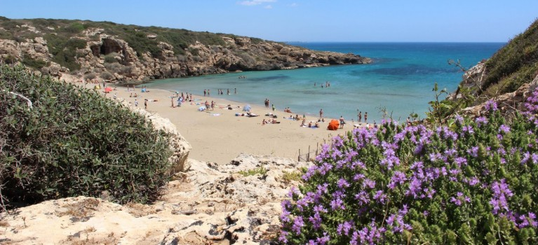 Cala mosche beach Noto Sicily