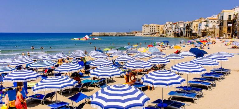 Sandy Beach Sicily Cefalu