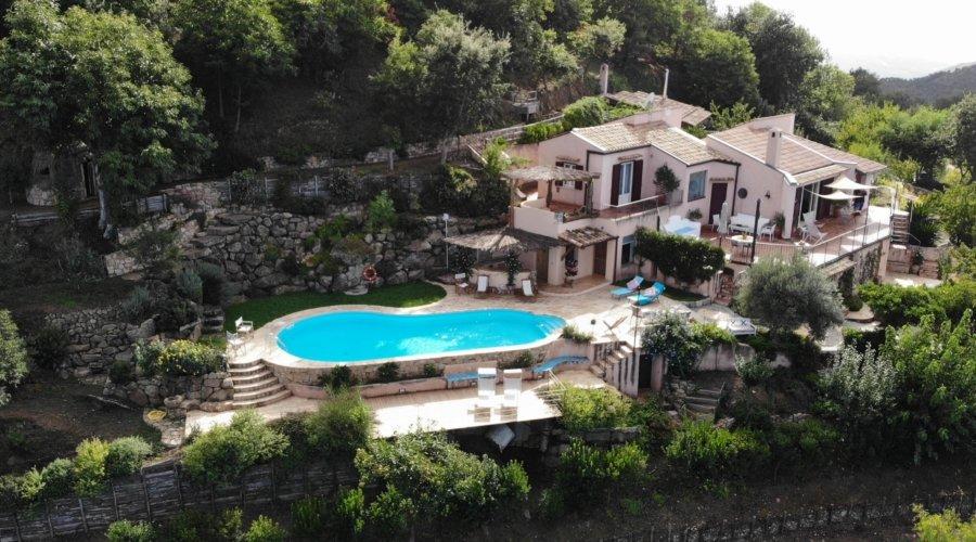 Villa Cipressi drone view