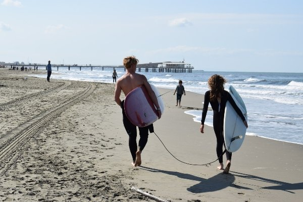 Versilia beach surfers